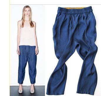 Turkey cobalt blue loose pants hanging file lanterns turnip pants 9