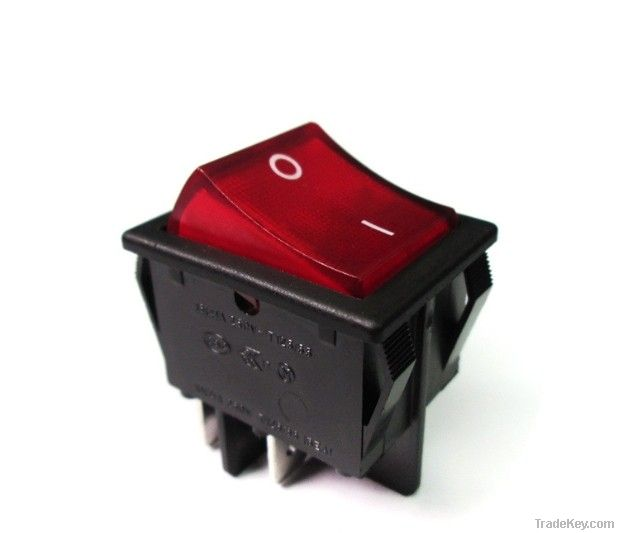 2 Position 4 Pin Double Pole On-Off Rocker Switch 16A 250/125VAC