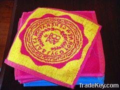 Cotton yarn-dyed  jacquard towel