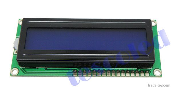 16x2 LCD modules with LED green backlight black character