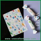 Colorful printing food grade candy paper/ candy wax sheets/wax food wrapping paper