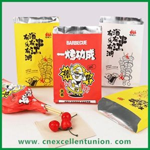 Roasted / Fried Chicken Bag Hot dog/BBQ Alu. Foil Bag/Kebab Bags With Customized Printing