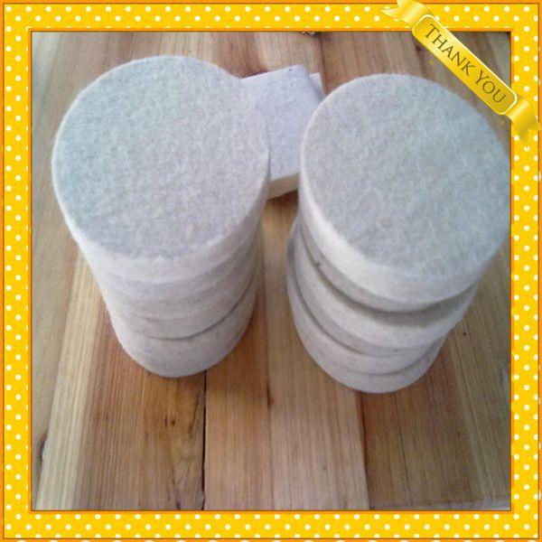 Polishing wool felt abrasive disc