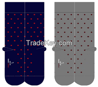 dotted cotton socks
