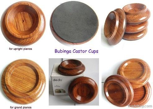 wooden castor cups for piano