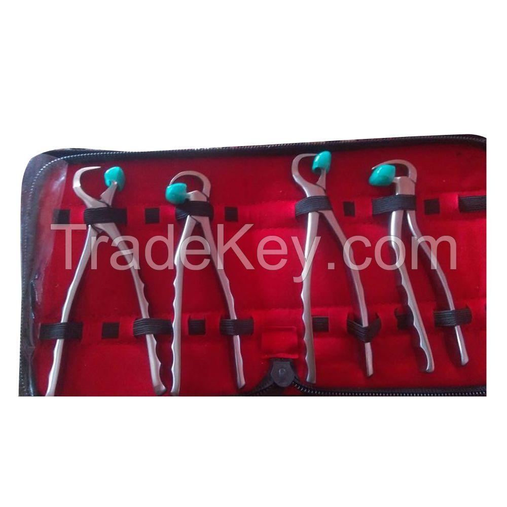 Dental Extracting Physics Forceps 4 piece Set