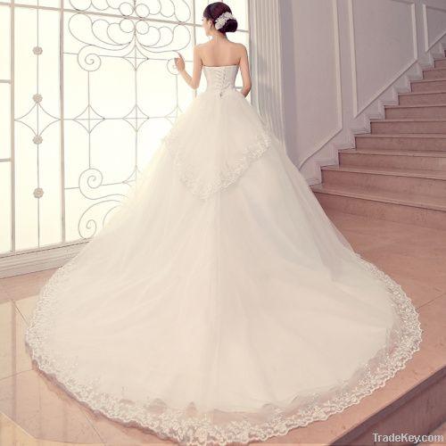 tube top wedding dress
