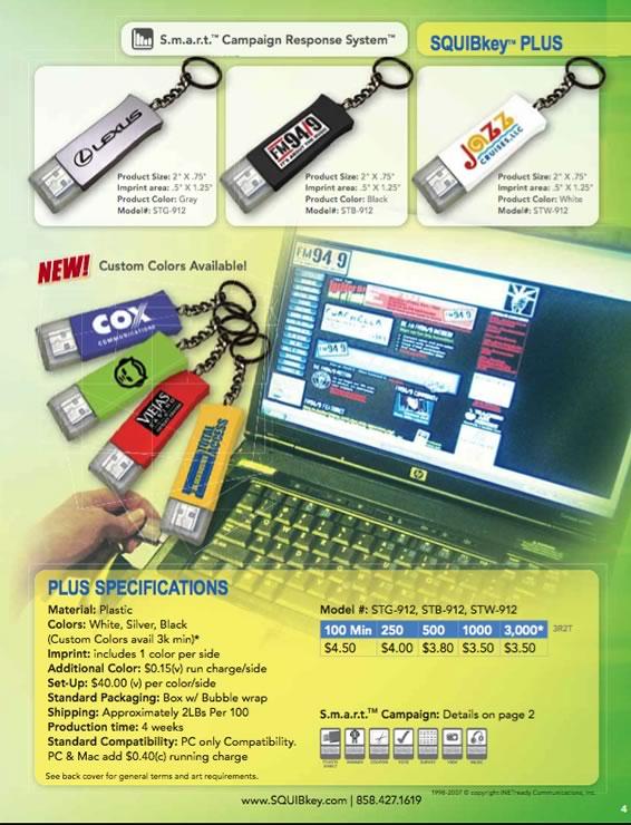 USB Webkey SQUIBkey Promotional Device