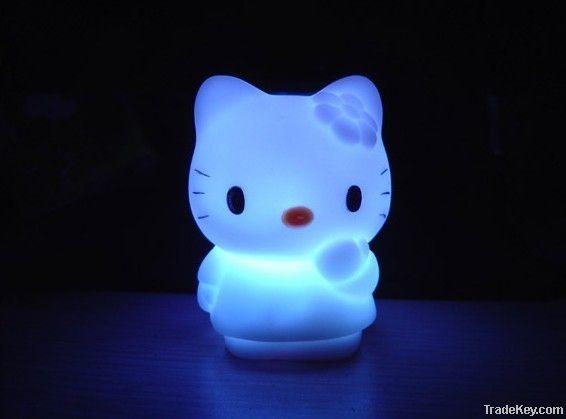 LED Colorful Night KT Cat Light