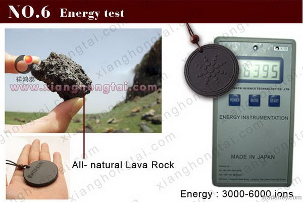316 L stainless steel Lava Rock Energy Quantum Pendant