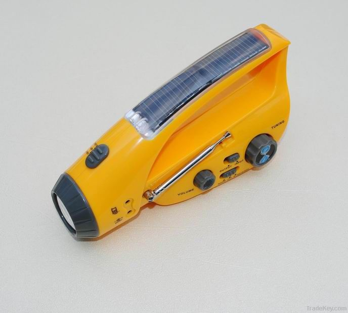 Solar Radio with LED torch light