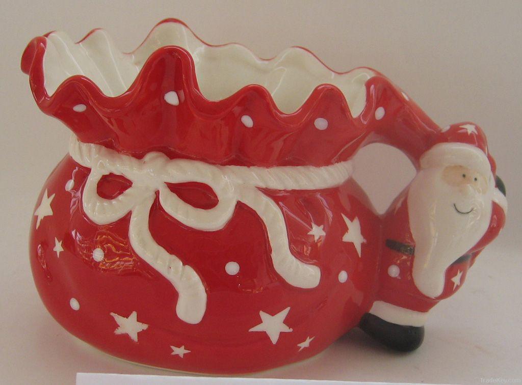 Xmas Tea Pot, Ceramic Tea Pot, Porcelain Tea Pot