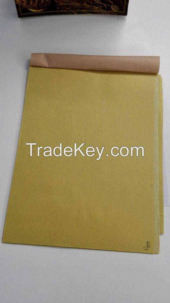 Narrow Ribbed Brown Paper