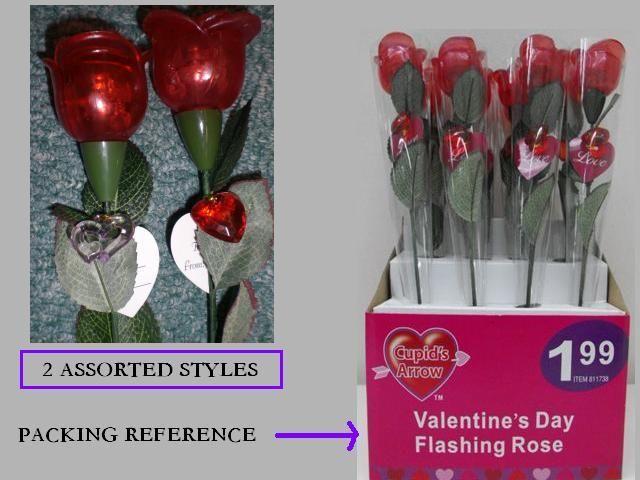 Holiday Gift  Flashing Rose