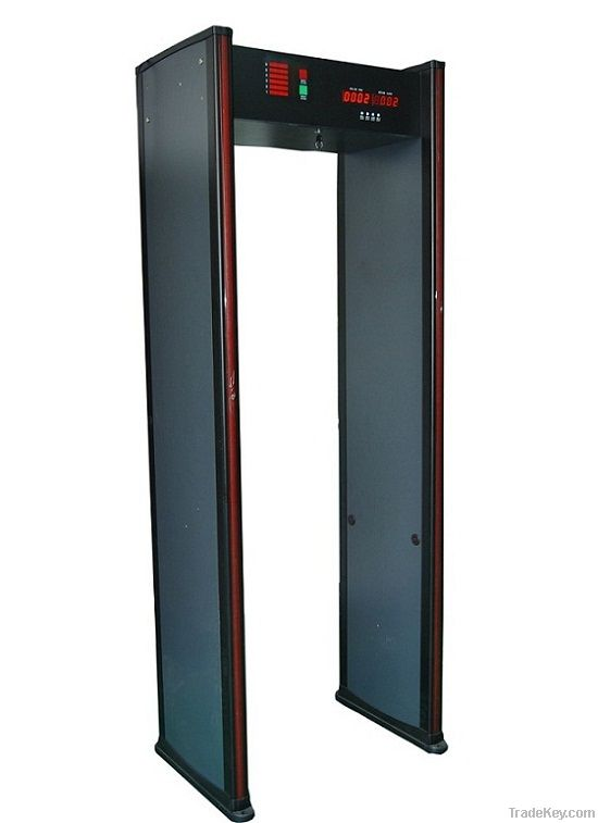 6 Zones Walkthrough Metal Door Detector with High Strength Synthetic M
