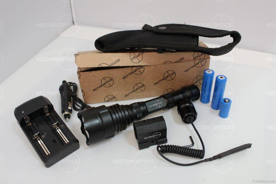 Vector Optics Tactical Aluminum LED Flashlight Torch