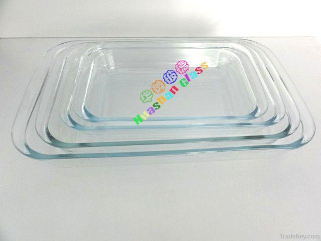 Huashan Pyrex Glass Baking Tray Rectangular By Zibo