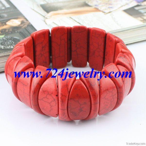 Precious Turquoise Gemstone Bracelet, 50 Pcs/Lot