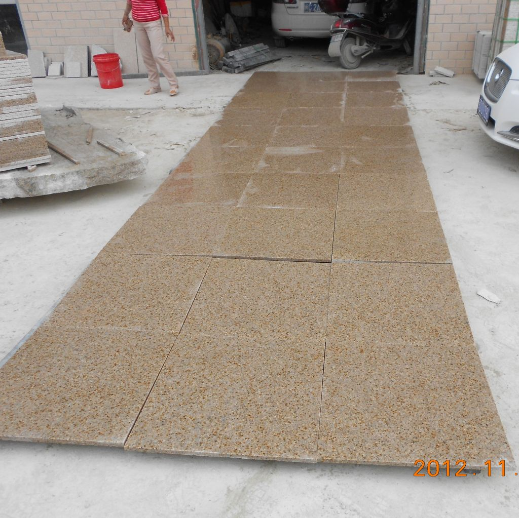 G682 granite tiles/Misty yellow/Golden leaf/Chinese yellow granite