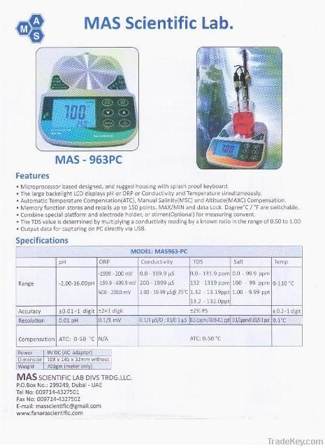 TDS pH Conductivity Salt ORP reader