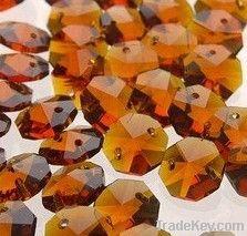 Octagonal Crystal Bead