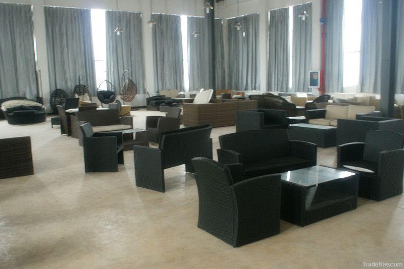 wicker furniture rattan table-chair set WJK-TC-11