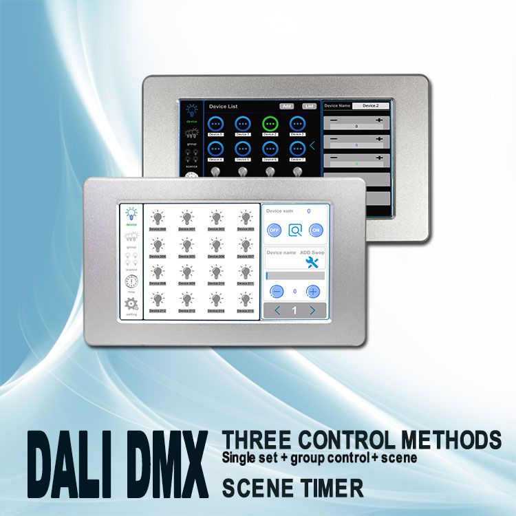 7 inch DALI touch screen master controller Smart Lighting control system