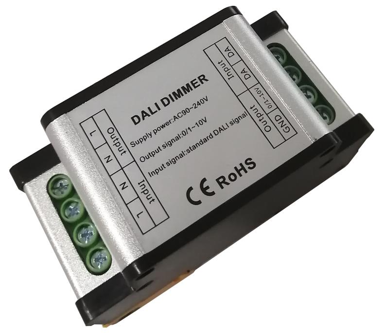 Rail type DALI to 0-10V 1-10V dimmer for DALI light control system