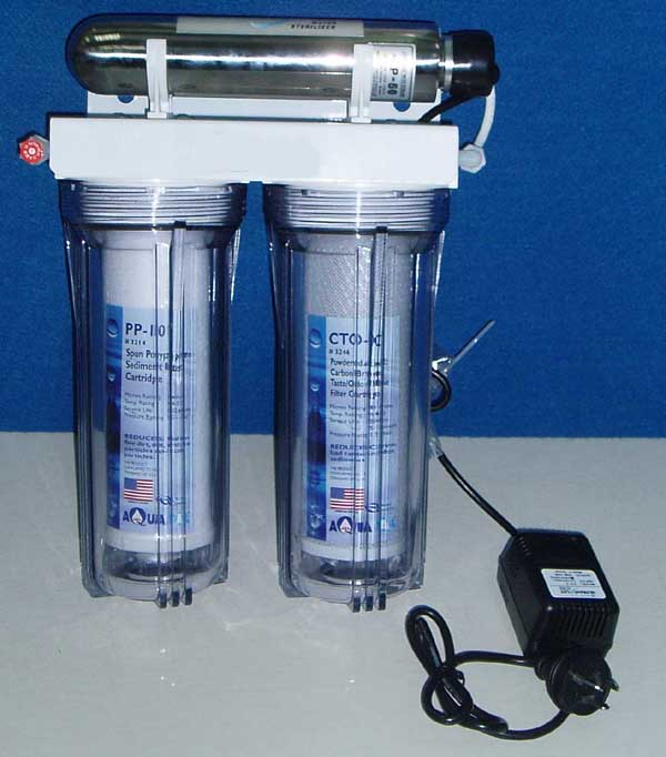 Italianate style clear water filter housing/water purifier with UV