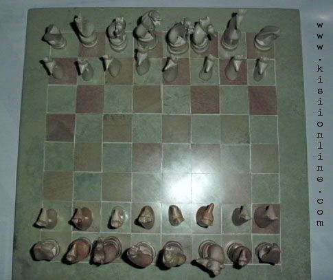 Carved Complete Stone Chess Game Set