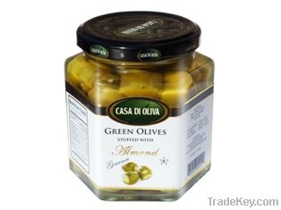 Green Black Stuffed Olives