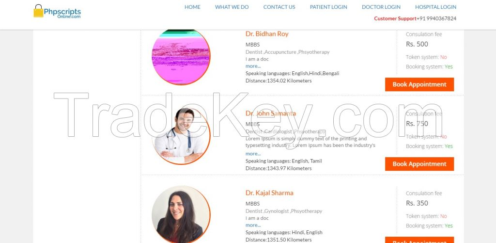 Doctor Appointment Booking Script