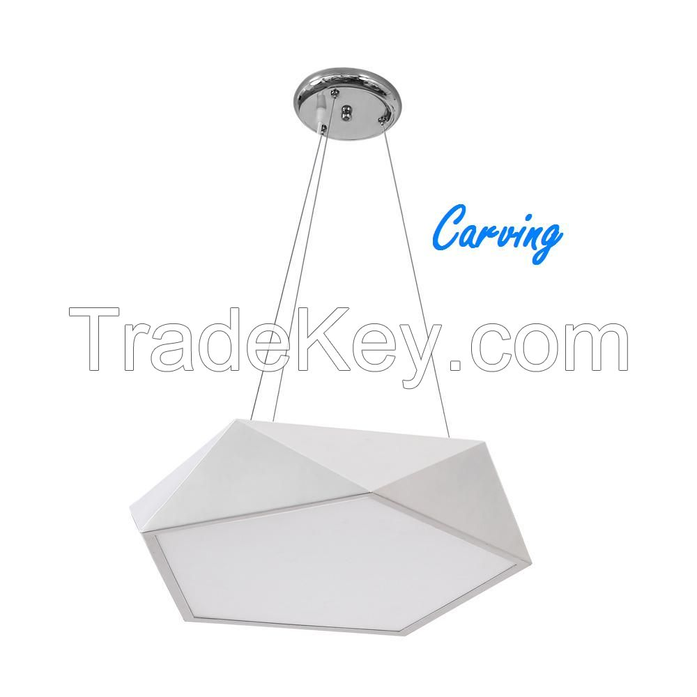 Carving 40W 2600lm CRI 90 LED Ceiling Light Fixtures with 3000k CCT