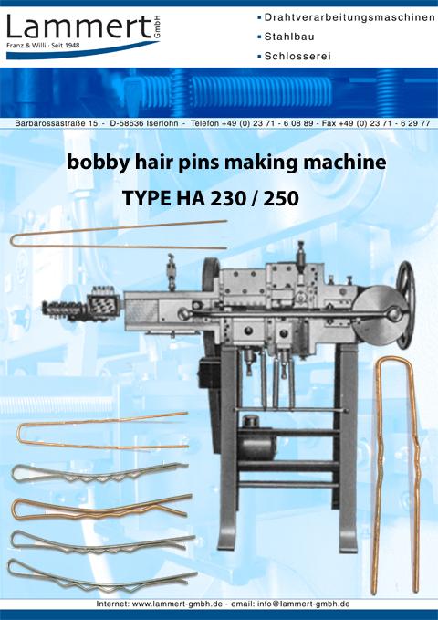 Bobby Hair Pins Making Machine