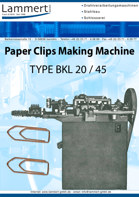 Paper Clips Staple Making Machine