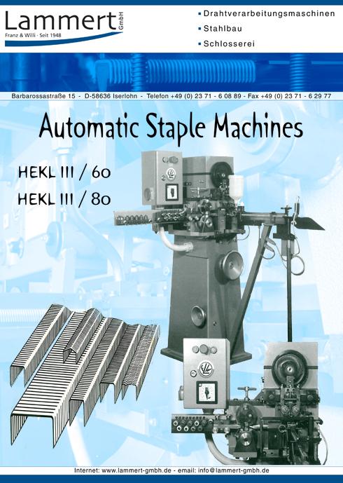Staple Clip Making Machine