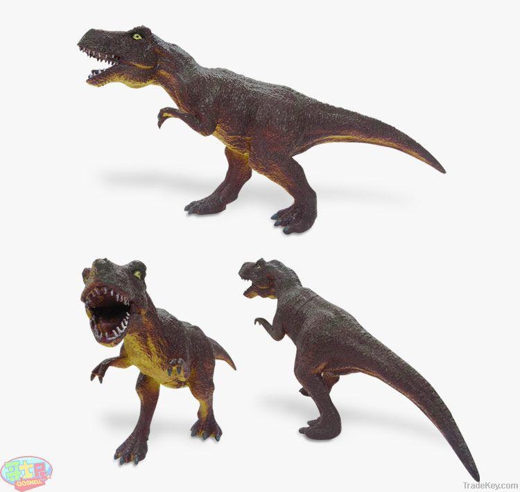 Green nontoxic soft rubber lovely cartoon dinosaur toy suit