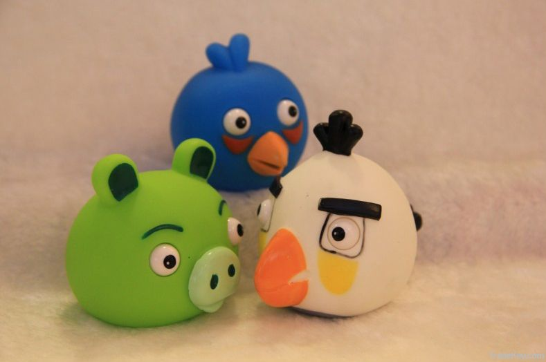 Angry birds prominent eyes hollow plastic doll toy of six