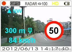 Speed Camera Warning Driving Recorder Car Black Box Dash Camera