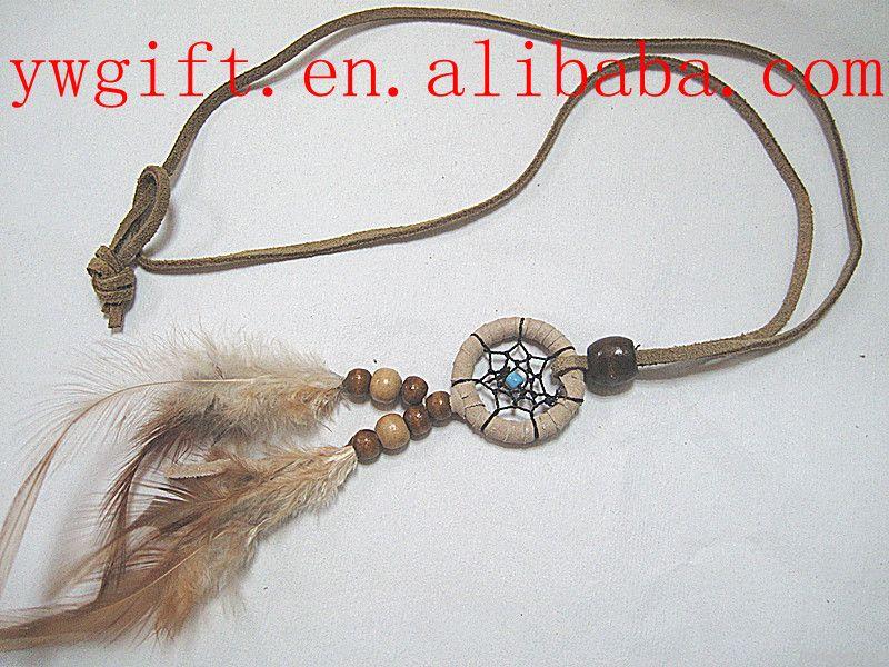handmade national minority chicken feather necklace
