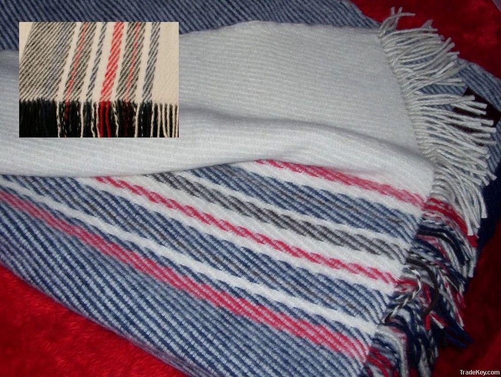 Melange New Zealand Wool Throw Blankets