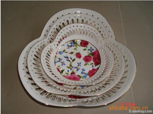 Ceramic art, sculpture, applique, luxury hotels ornamental porcelain