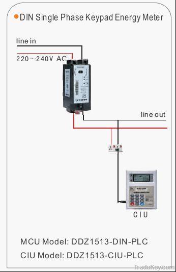 1 phase prepayment energy meter