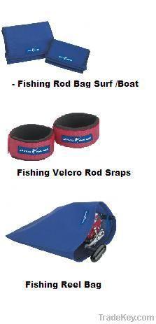 Fishing Velcro Rod Sraps , Fishing Rod Bag Boat , Fishing Reel Bag