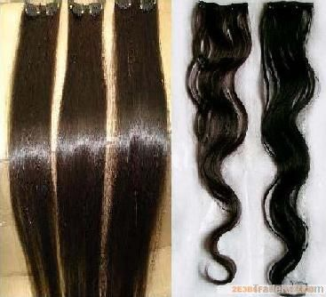 2011 hotsell clip in remy human hair extension silky straight