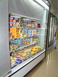 refrigeration showcase cover