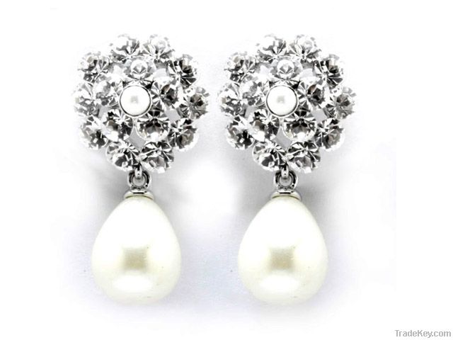 Teardrop Silver Stud Earrings