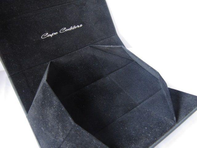 Unique Black Leather Folding Eyeglasses Gift Box
