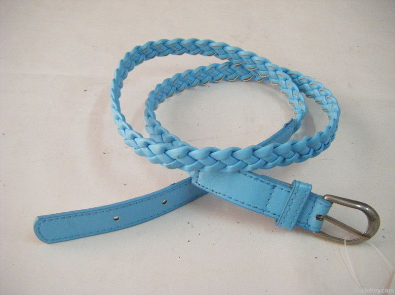 hand-knitted leather belt