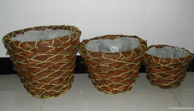 garden flower basketry/laundry basktes/bamboo baskets/wood baskets